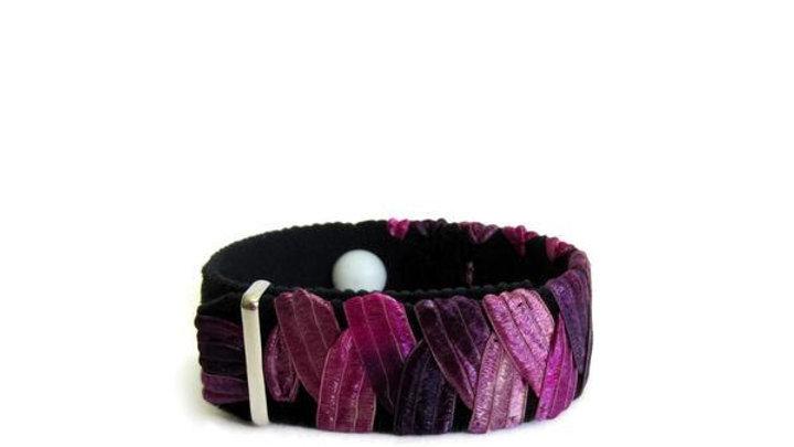 Anxiety Relief bracelet, Stress relief bracelet, Purple