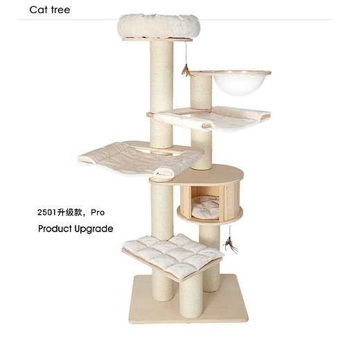 Honeypot Cat Solid Wood Cat Tree 2501 Pro