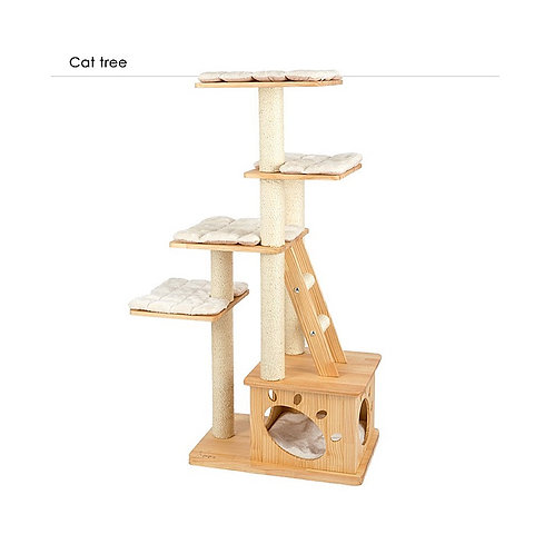 Honeypot Cat Solid Wood Pine Cat Tree
