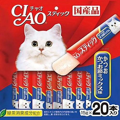 Ciao啫哩肉条20本 - 鲣鱼木鱼花