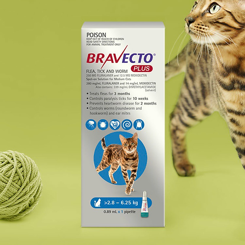 Bravecto Plus体外驱虫药 - 2.8-6.25kg