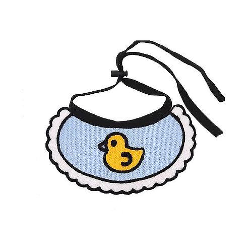 蓝色小鸭口水巾M