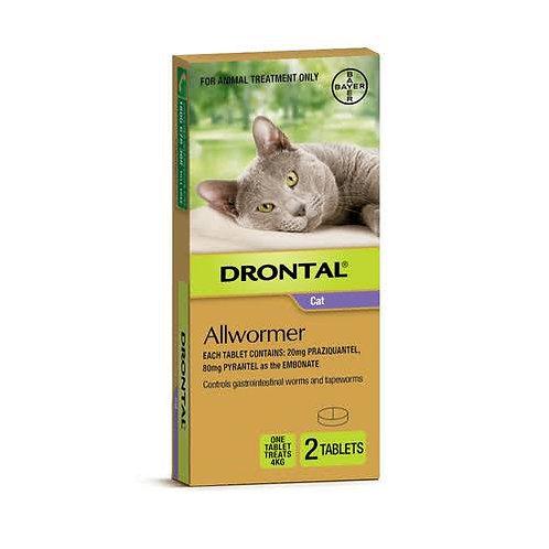 Drontal内驱虫药2粒 - 4kg
