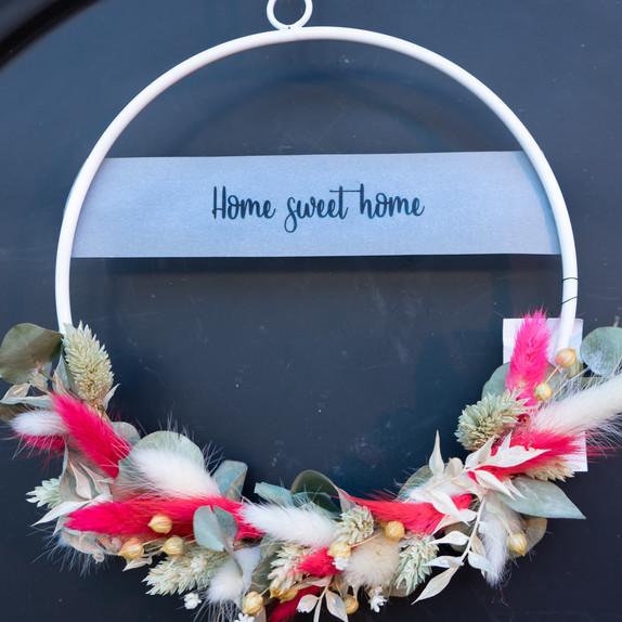"""Trockenblumen loop """"Home sweet home"""""""