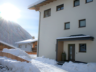 Hauseingang Bluamen Winter