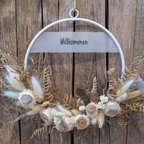 """Trockenblumen loop """"Willkommen"""""""