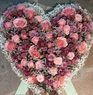 Herz Rosatöne