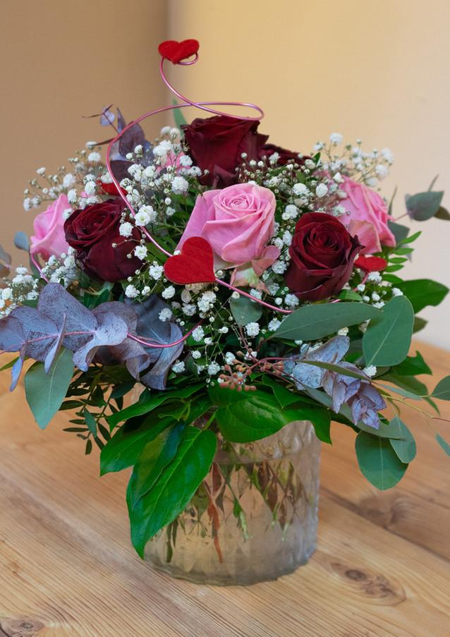 Blumenstrauß bunte Rosen