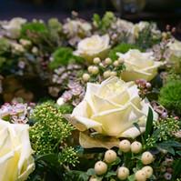 Trauerkranz grün-weiß
