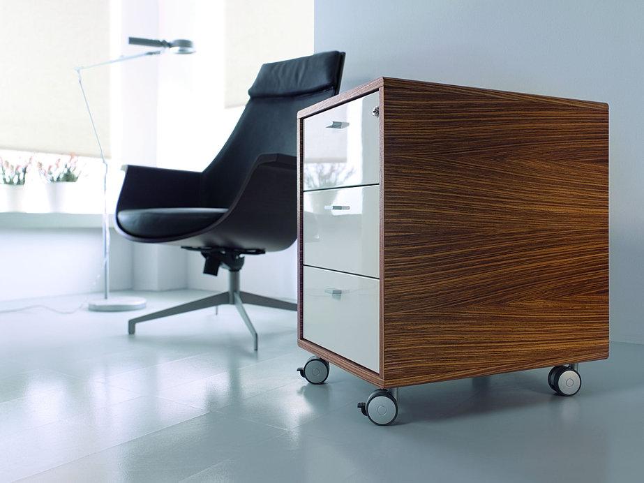 Longplay desks maxfurniture for Hoogglans ladeblok