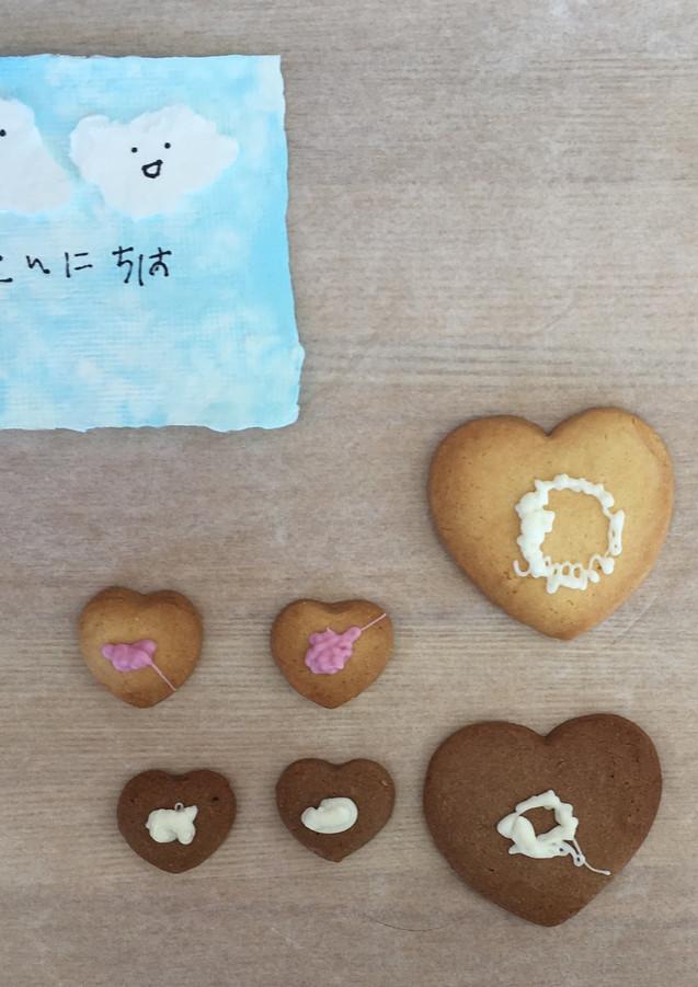 バレンタインのお菓子とカード