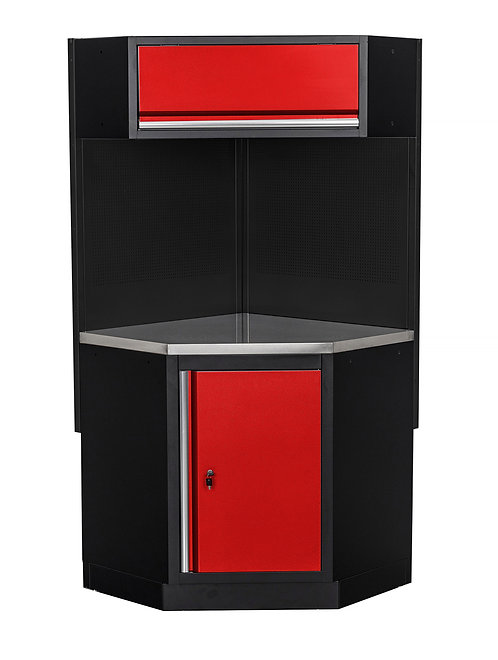 Kulmakaappi (punainen/musta)