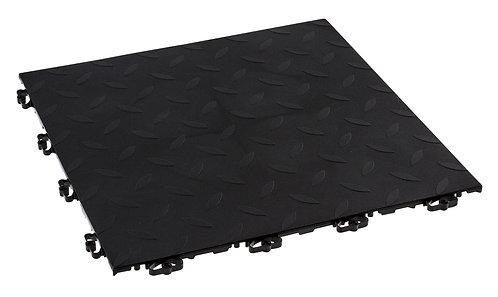 Lattialaatat, musta 2m²