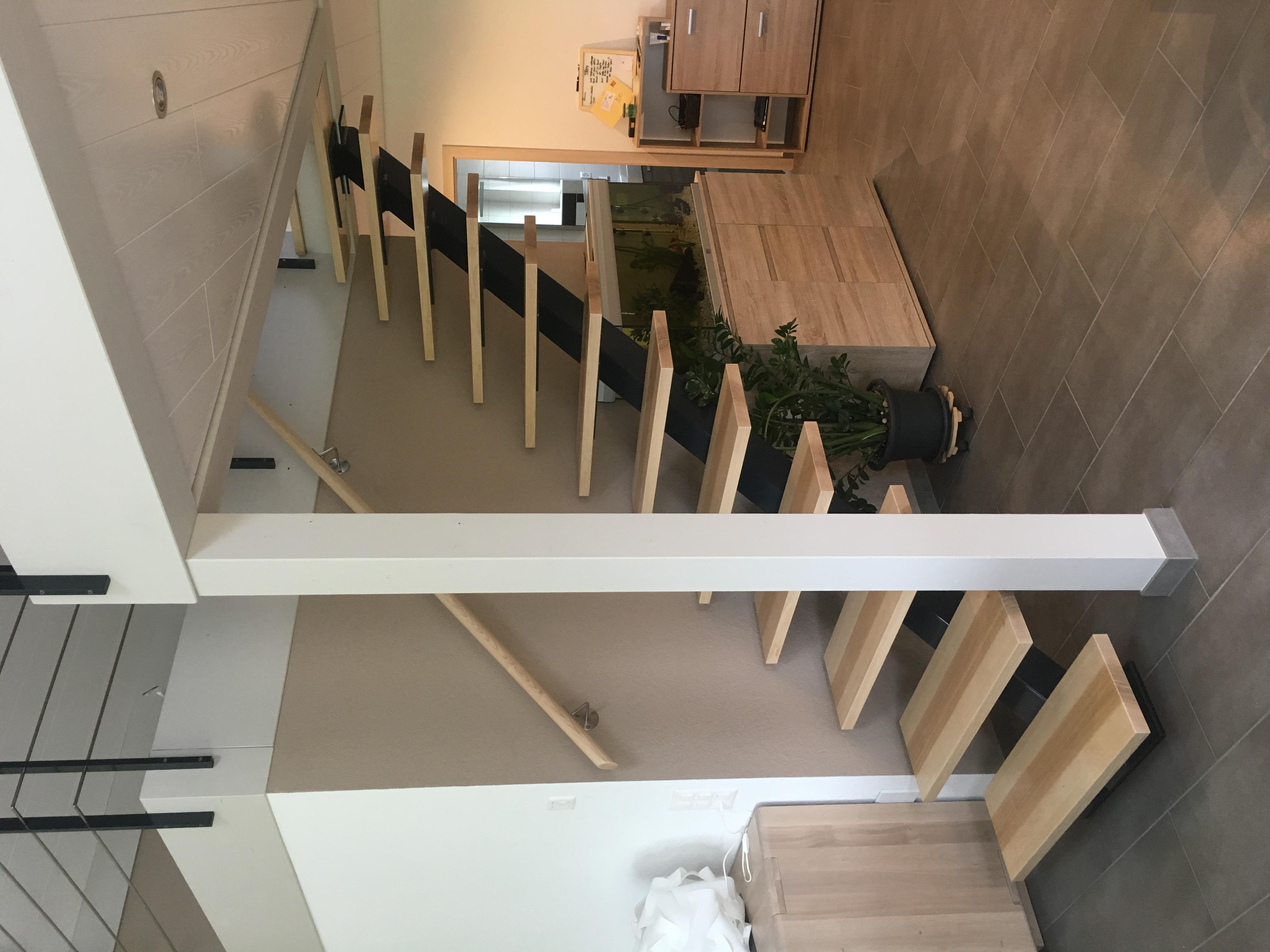 Escalier avec limon métalique