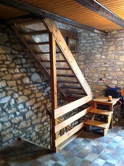 Escalier 1/4 tournant avant remplace