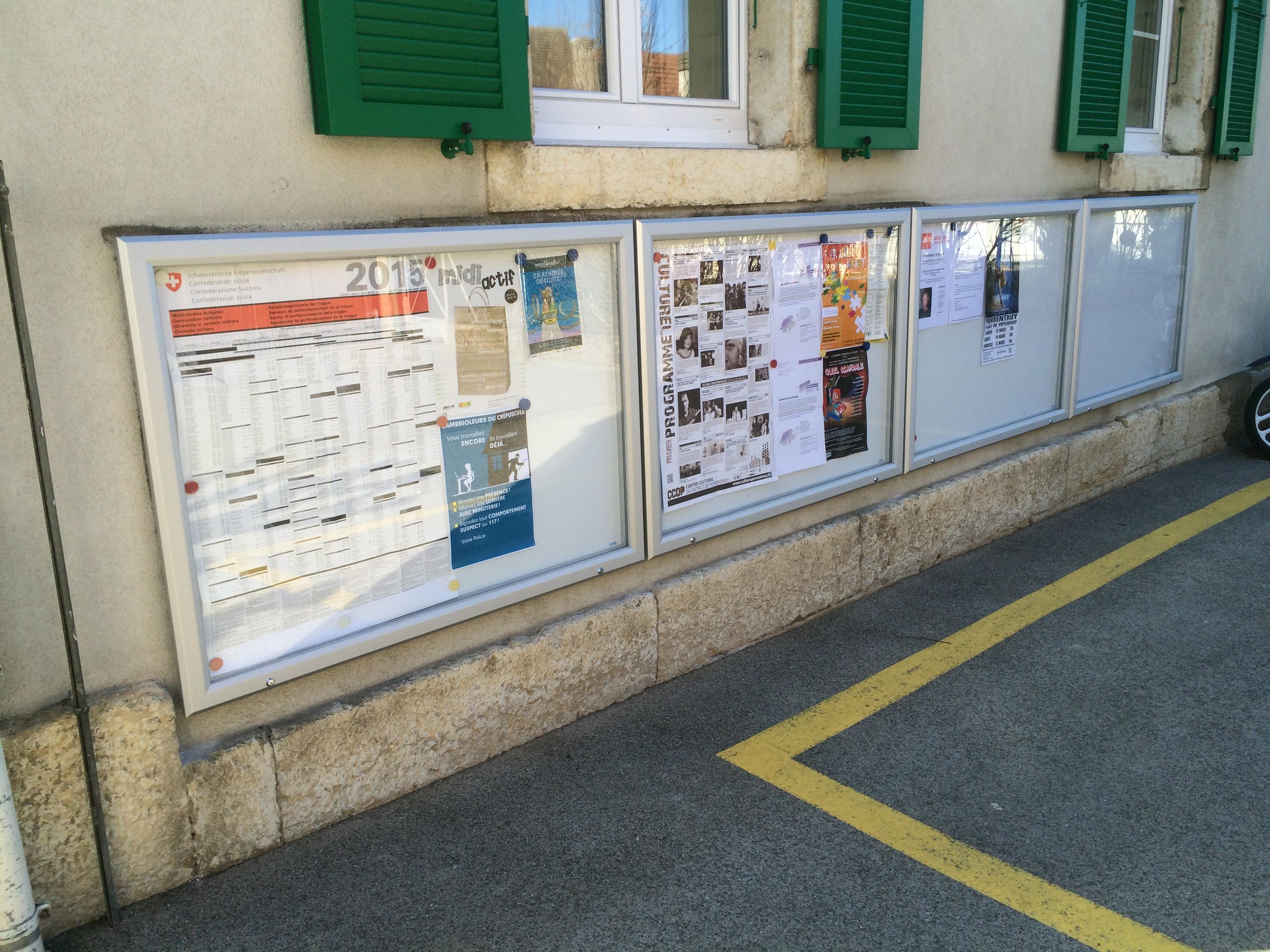 Remplacement de vitrine