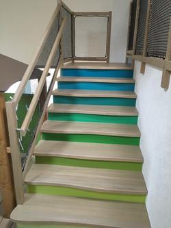 Escalier d'une crèche