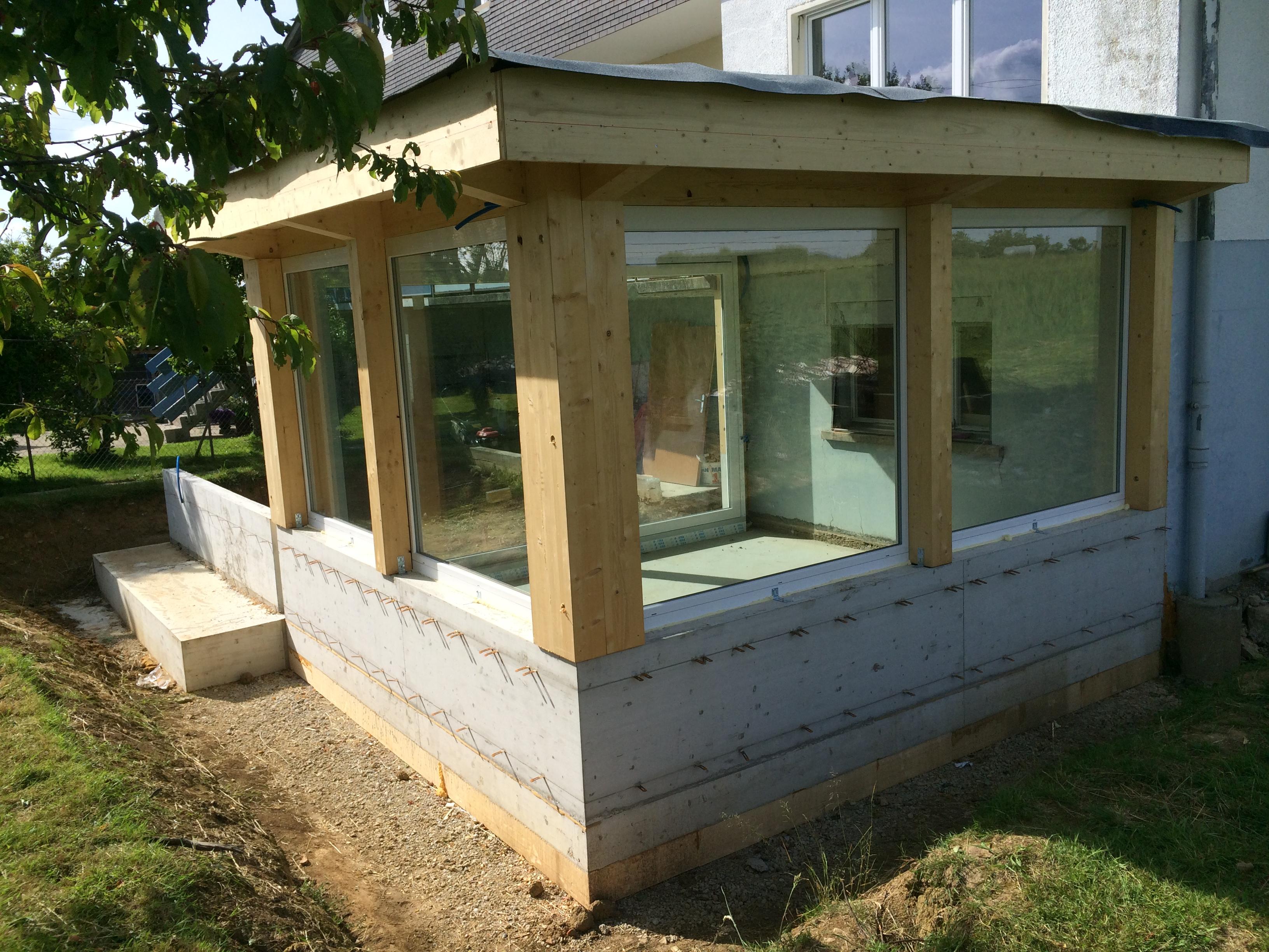 Pose d'une veranda à Courgenay