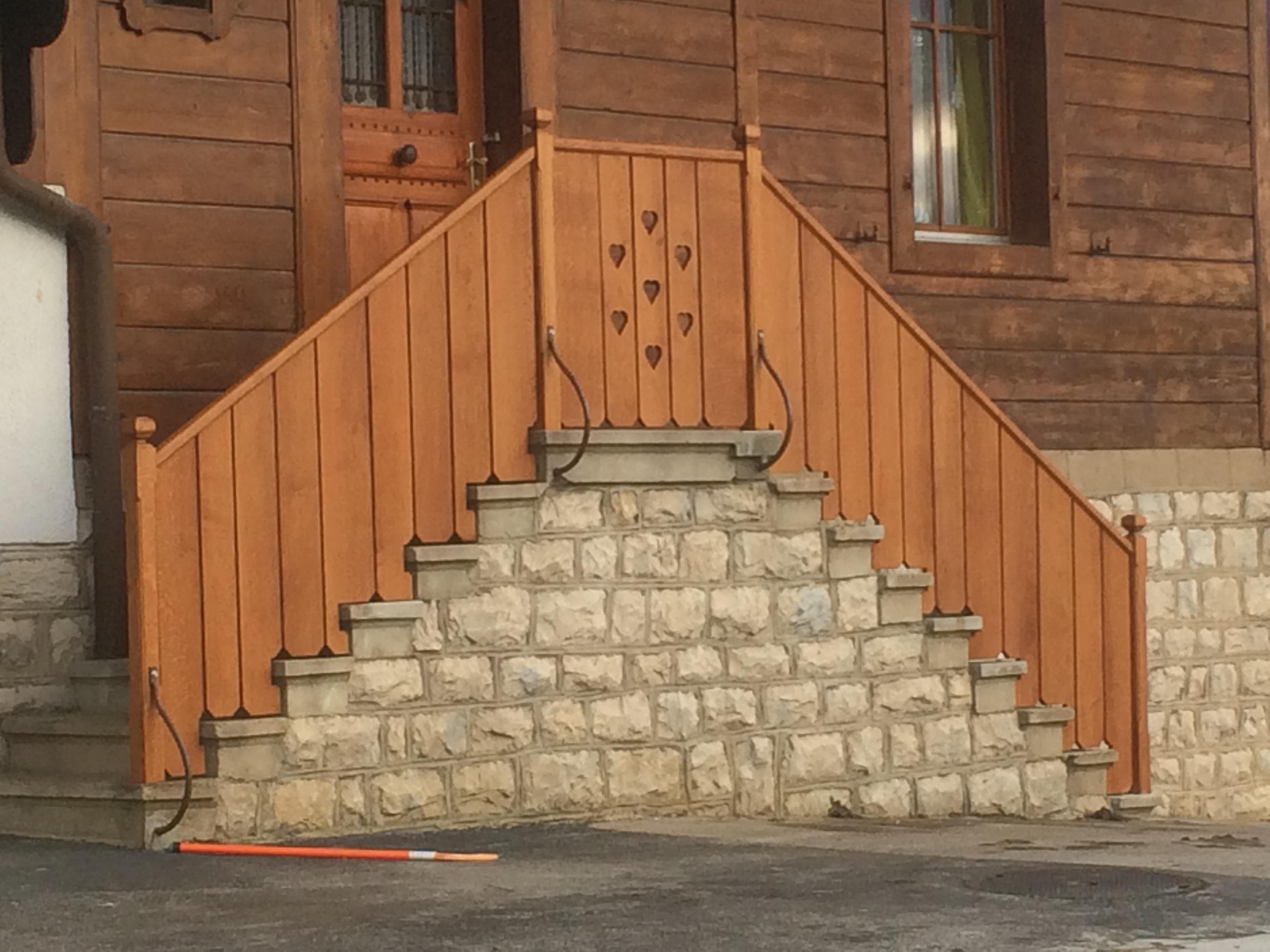 Garde-corps d'escalier en chêne
