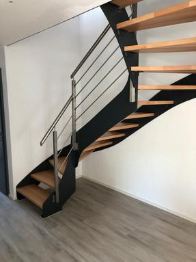 Escalier bois _ métal