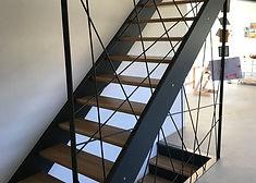 Escalier limon antracithe marches en chê