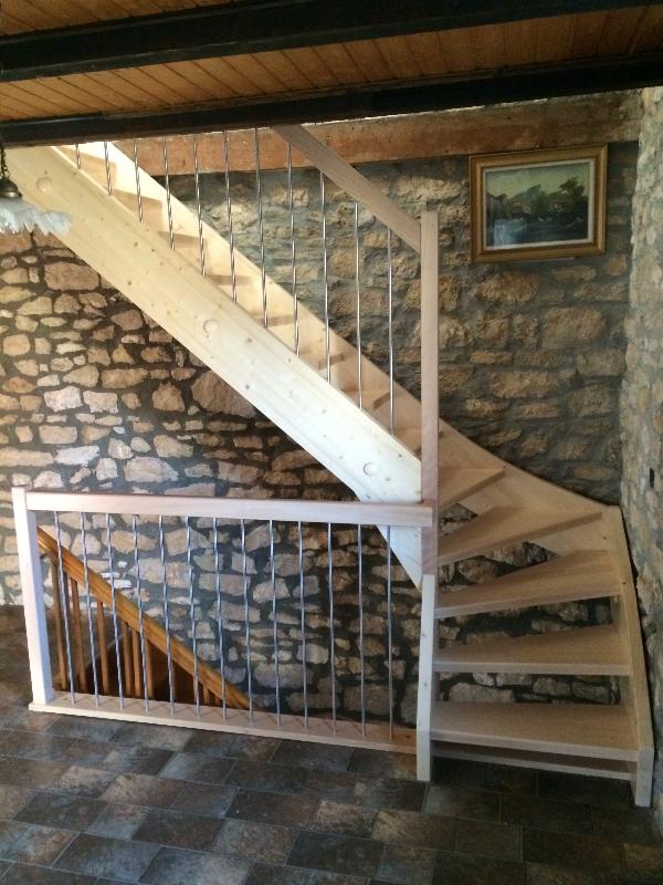 Escalier 1/4 tournant après remplace