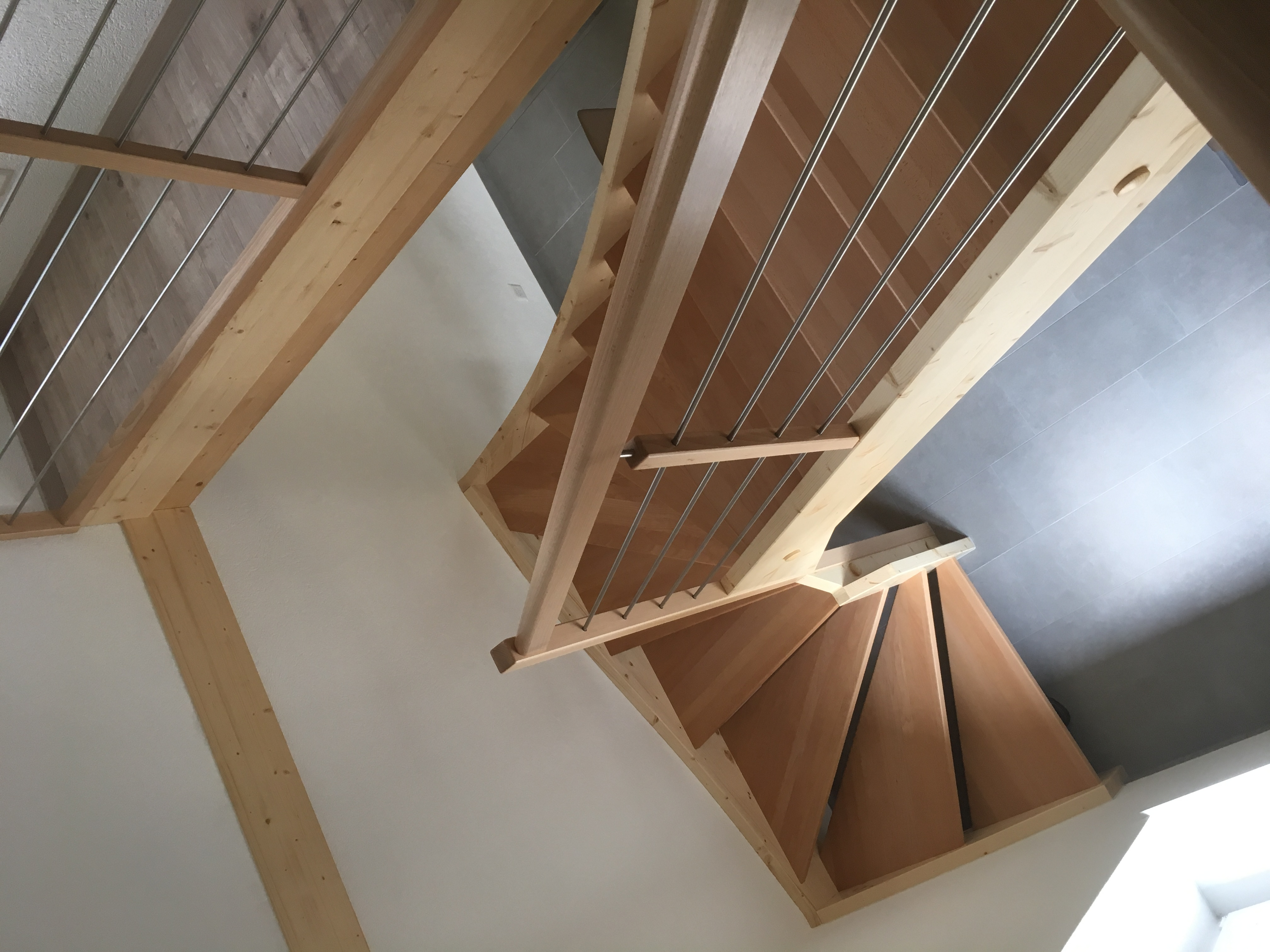 Escalier 1/2 tournant
