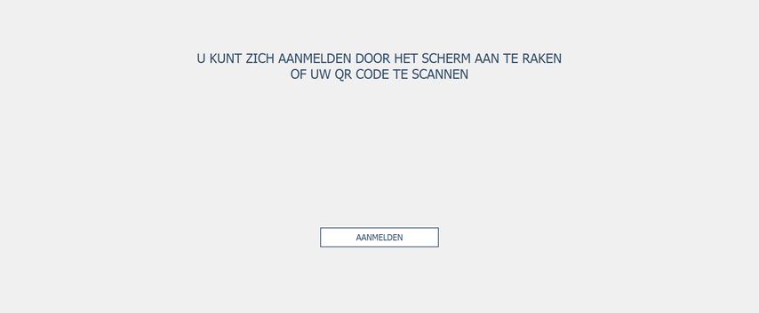 Aanmeldscherm