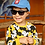boy wearing black wayfarer flexible polarised sunglasses