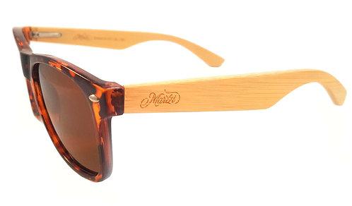 Martzi Siracusa brown polarised sunglasses angle view