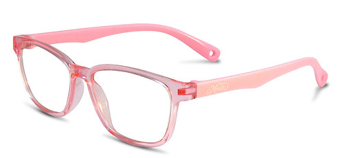 Aria pink blue light blocking glasses angle view