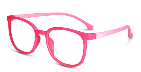 Zara pink blue light blocking glasses angle view