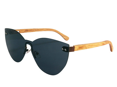 Celia Black lens colour catseye glasses angle view