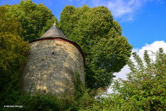 Hexenturm auf der 3 km langen Stadtmauer