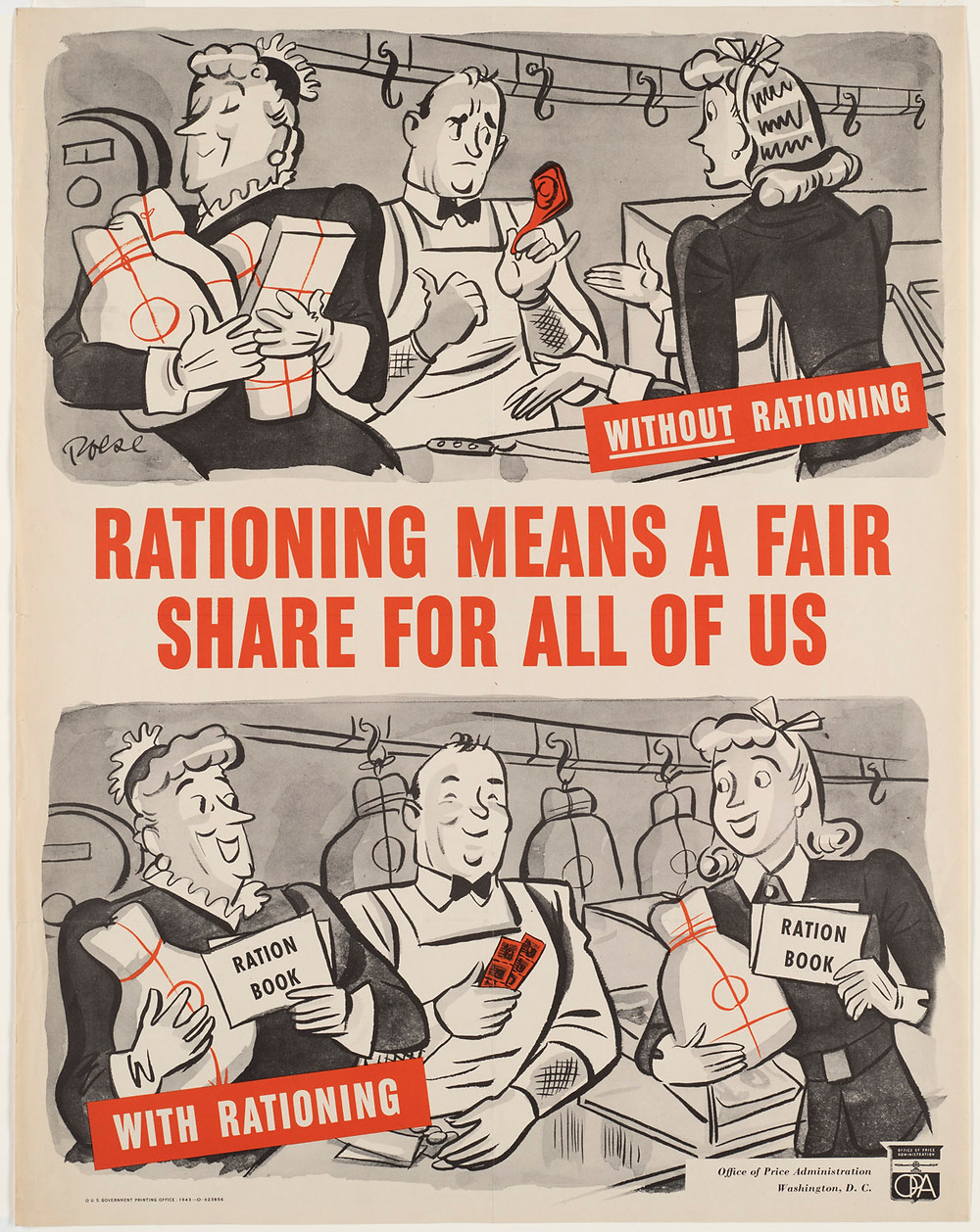WWII rationing poster
