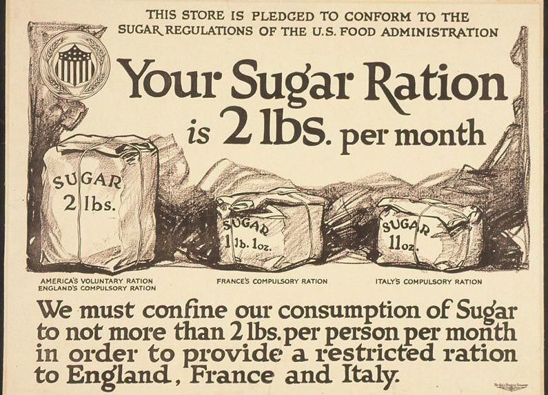 Sugar rationing WWII