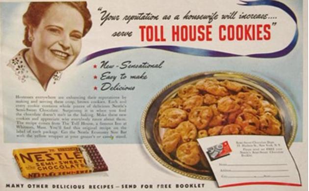 Vintage Toll House Cookie ad