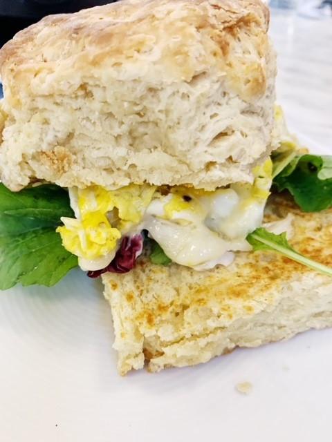 Breakfast sandwich at Black Bear Bread Co.