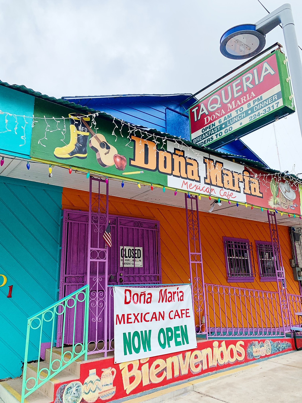 Front of Dona Maria Mexican Cafe