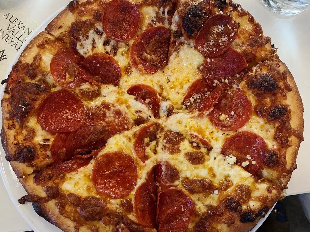 Pepperoni Pizza at Porta'Vino