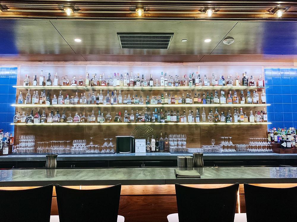 The bar at Georgia James