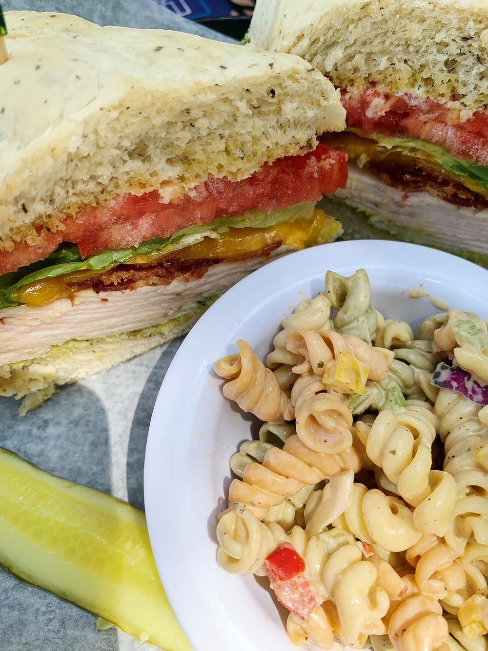 Turkey Bacon Guacamole Sandwich on 30A