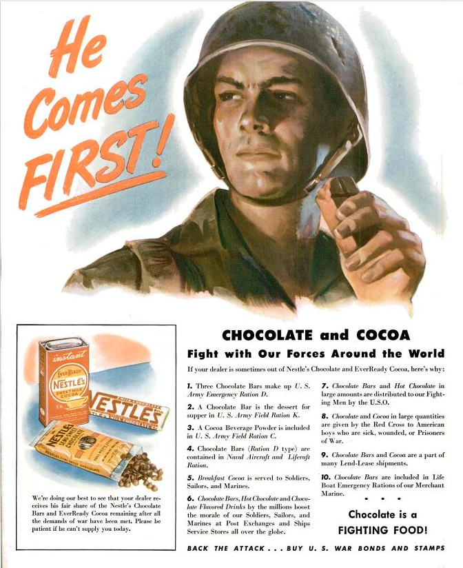 """During WWII, sugar and chocolate were """"fighting food!"""""""