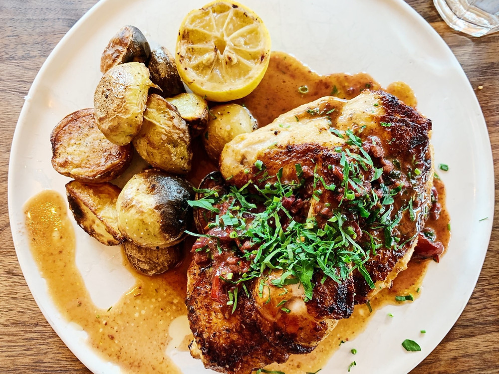 Chicken  Basquaise at Rosie Cannonball