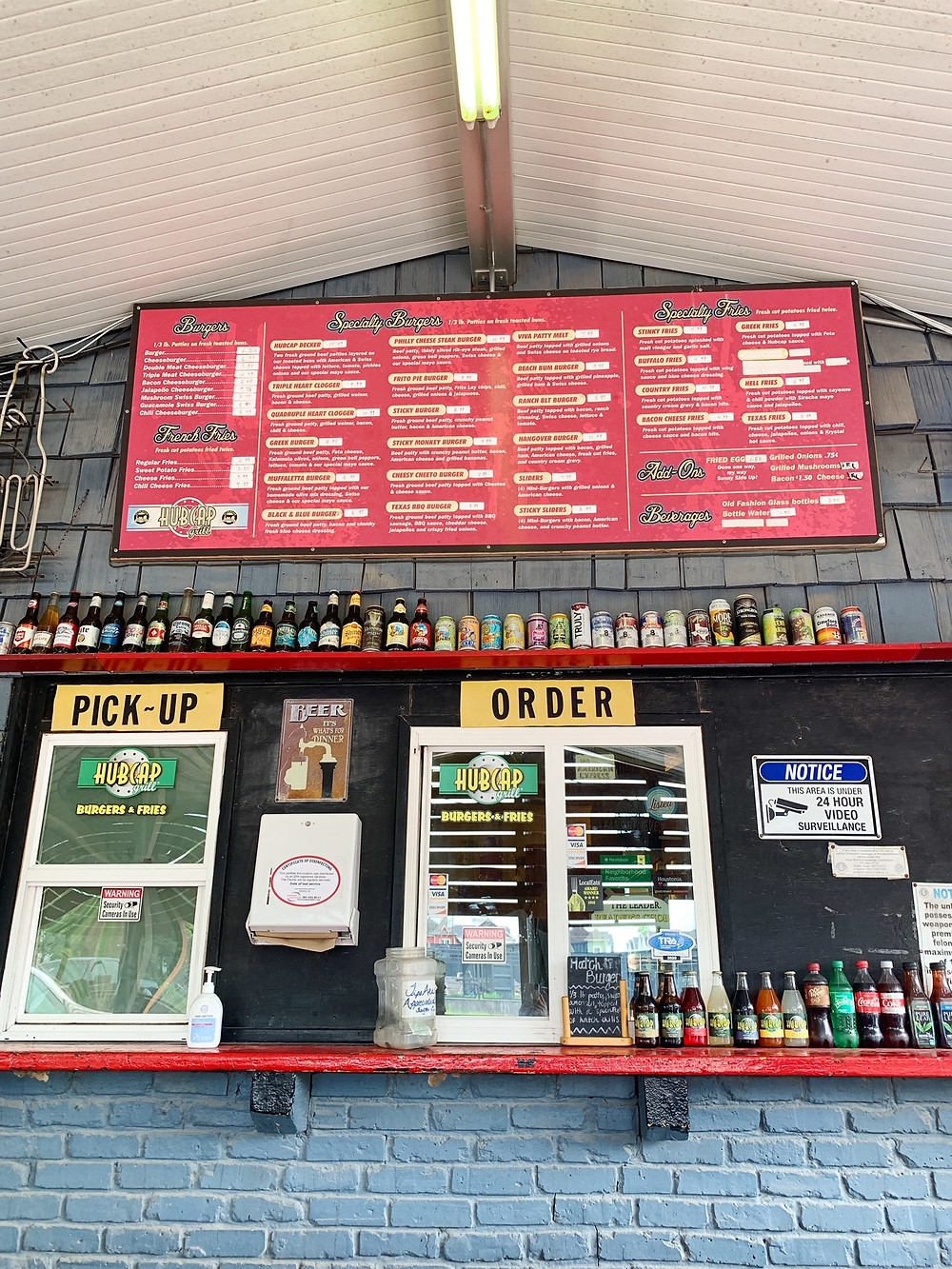 Order at the counter at Hubcap Grill