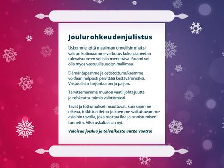 Joulurohkeudenjulistus
