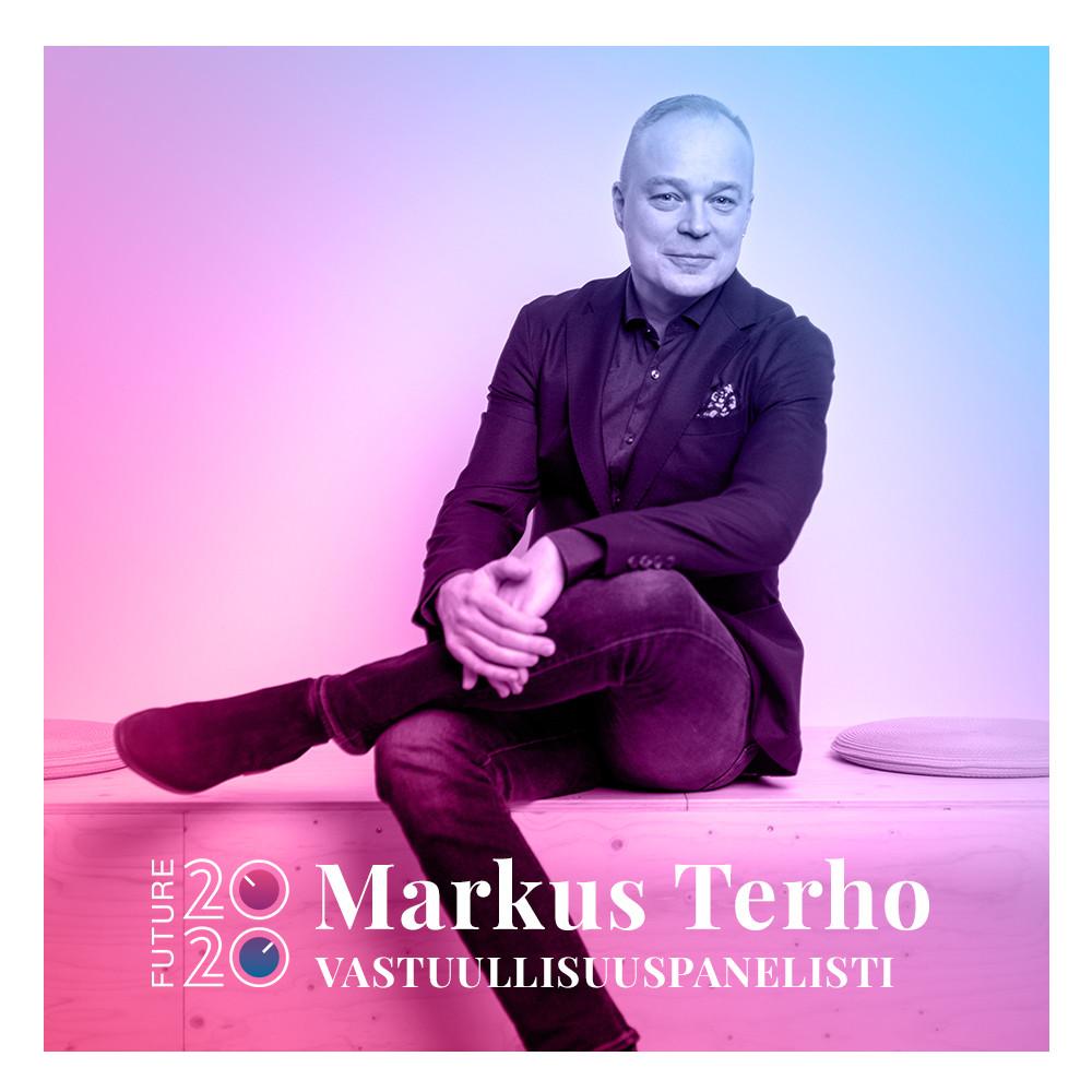 Kuvassa vastuullisuuspanelisti Markus Terho