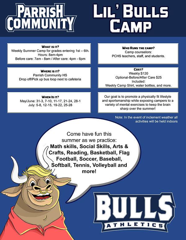 Lil bulls camp flyer - Send to Erin Corr