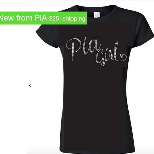 PIA Girl Rhinestone Tee Shirt