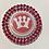 Thumbnail: Crown CARES Logo Double Rim Rhinestone Sash Magnet